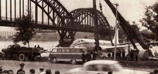 Посадка ТУ-124 на реке Нева, 21 августа 1963 года