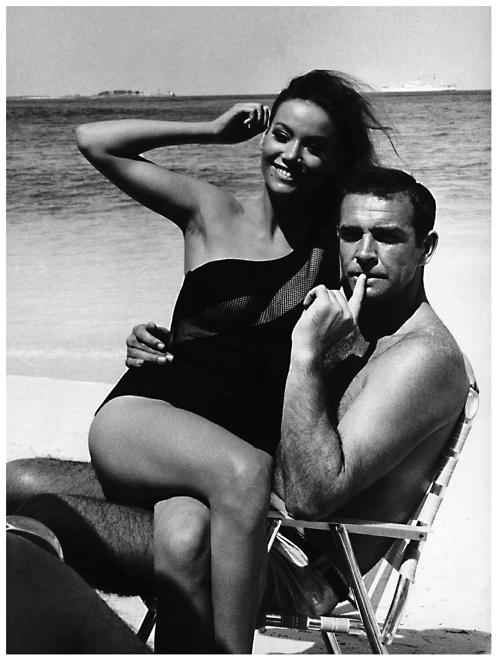 sean-connery-on-the-set-of-thunderball-with-claudine-auger-1965