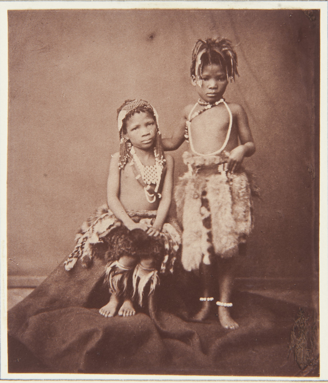 the-aborigines-of-south-africa-on-display-for-the-show-in-england-1853