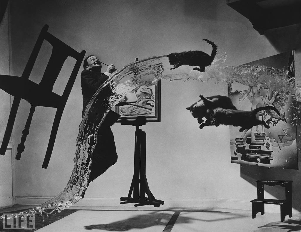 «Dali Atomicus». Photo by Philippe Halsman, 1948