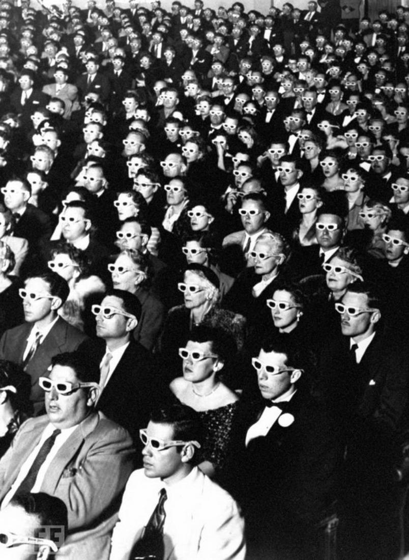 3D Movie Audience. Photo by J.R. Eyerman, 1952