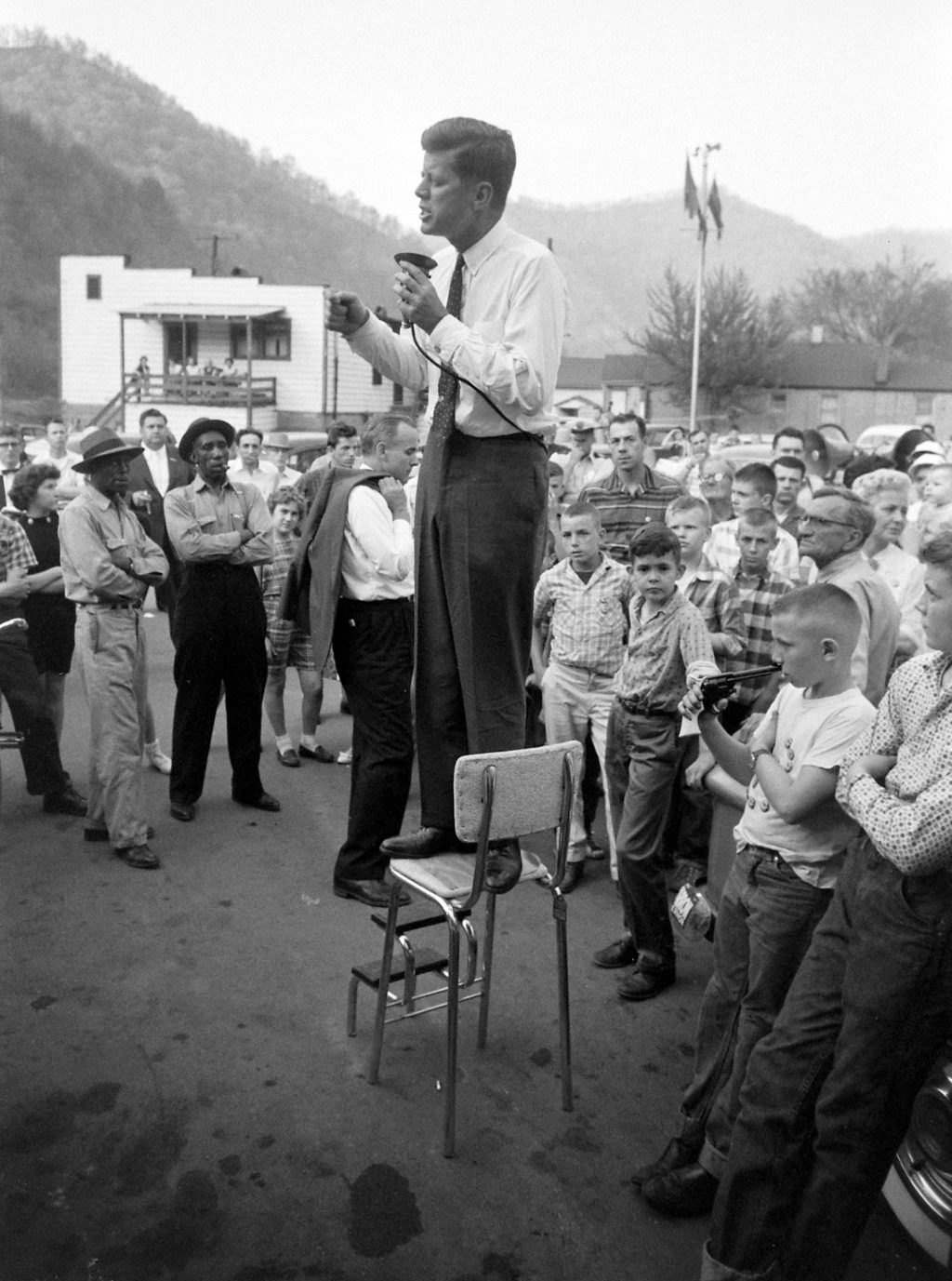 Before Camelot, a Visit to West Virginia. Photo by Hank Walker, 1960