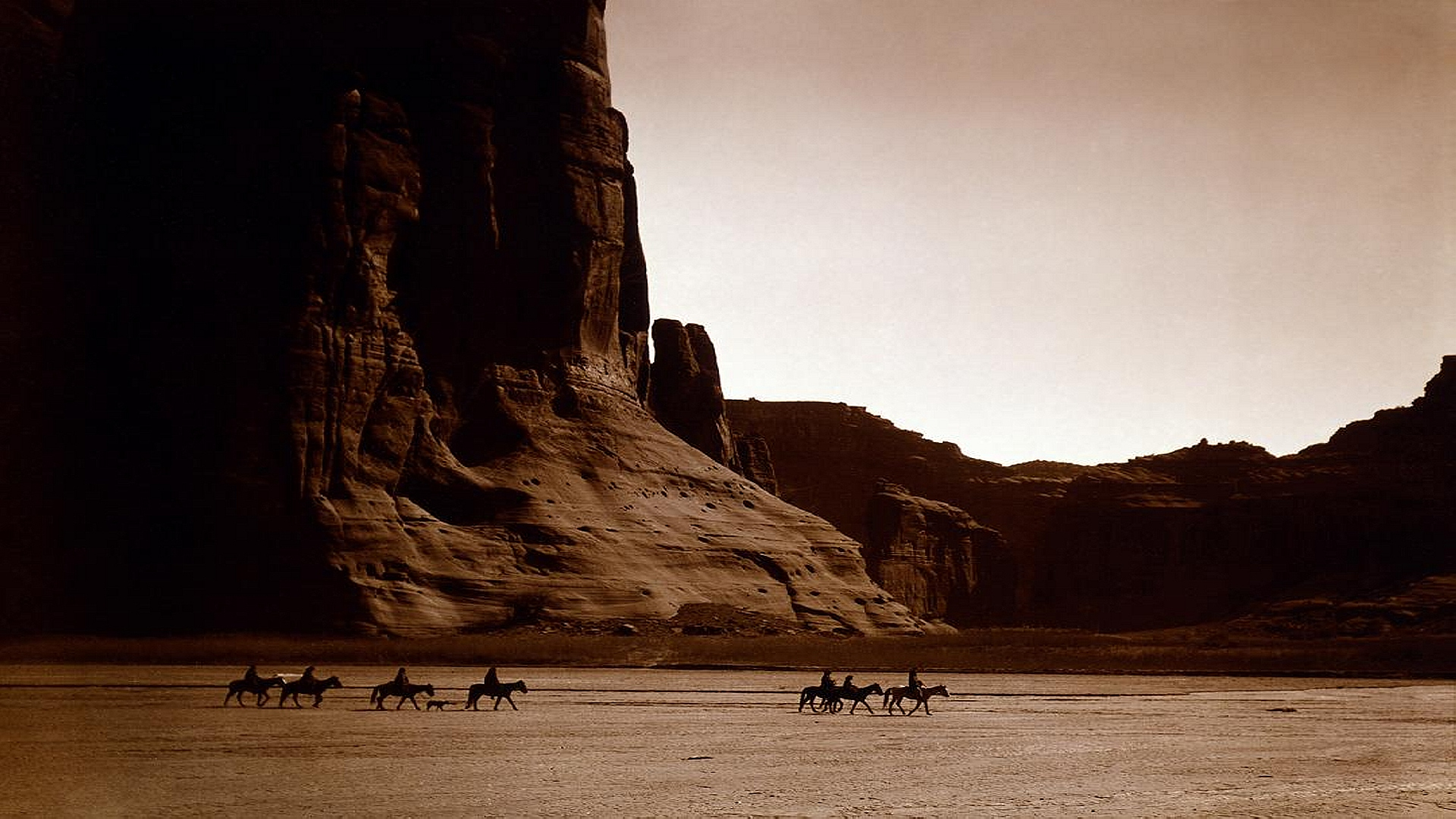 Canyon de Chelly, Navajo, USA. Photo by Edward S. Curtis, 1904