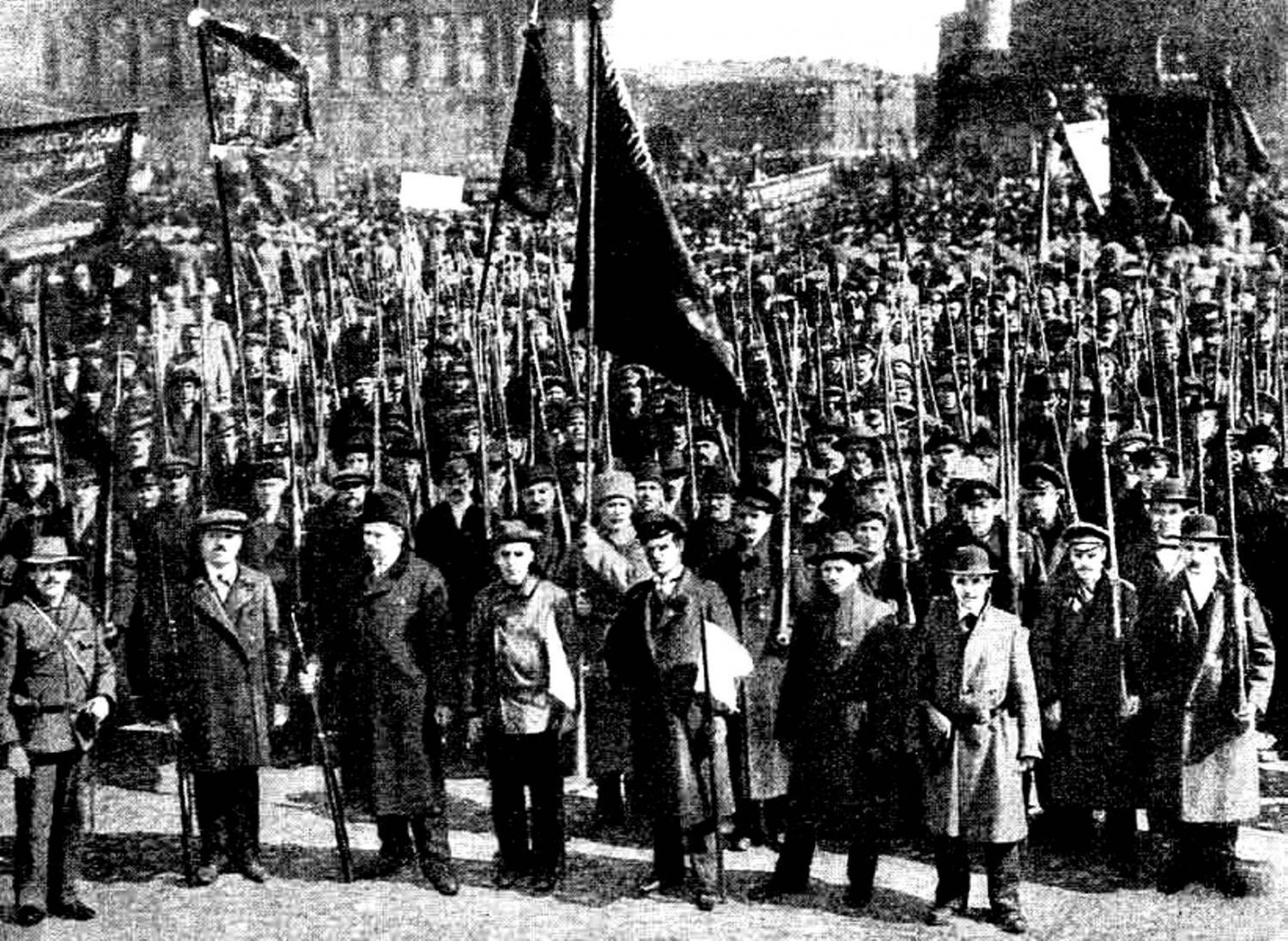 Column of the Red Guards, the May day demonstration in Petrograd, 1917