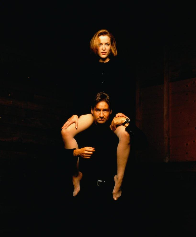 David Duchovny and Gillian Anderson, 1996