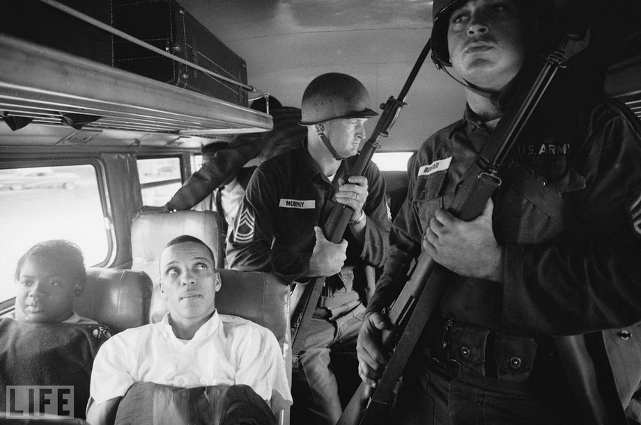Freedom Riders. Photo by Paul Schutzer, 1961