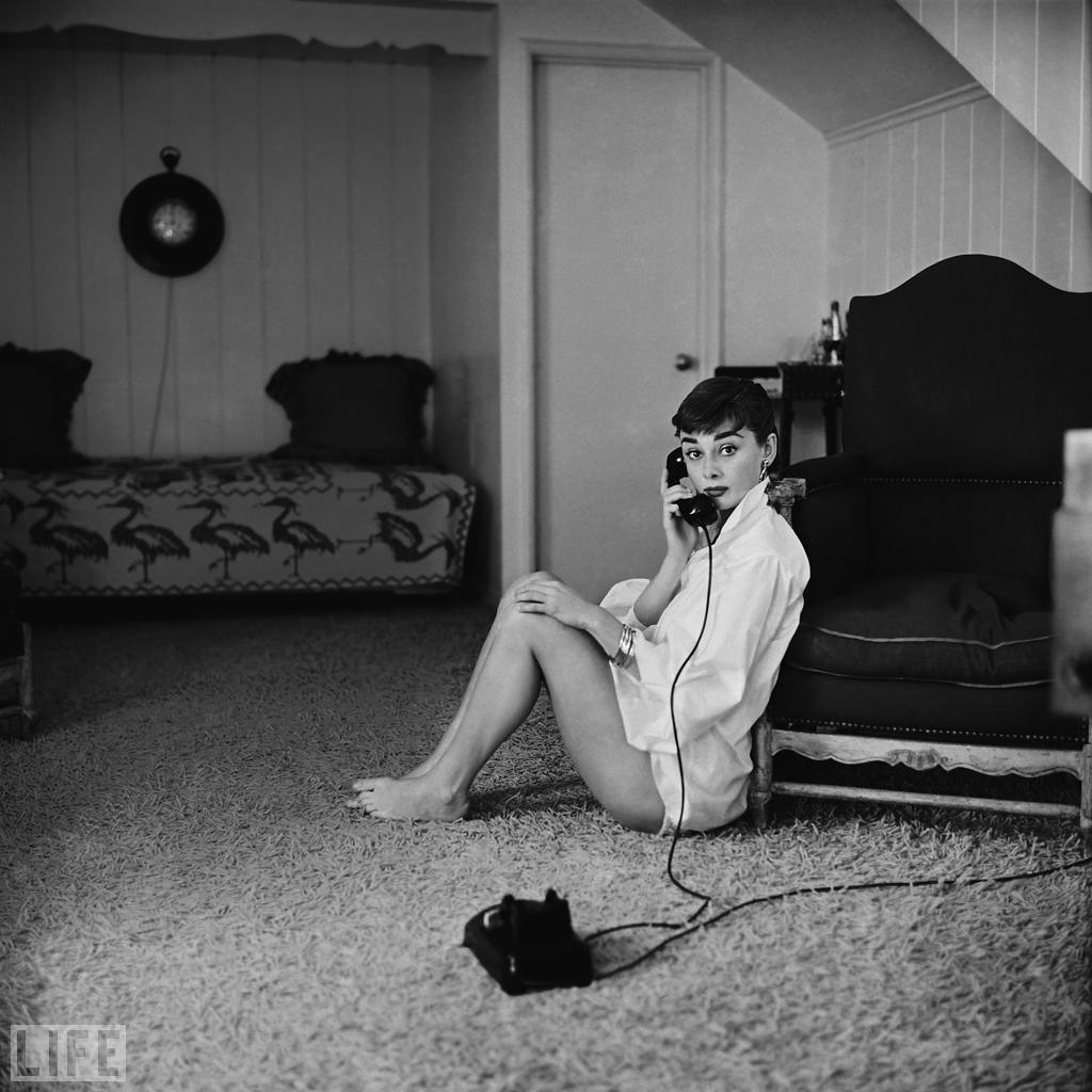 Ingenue Audrey. Photo by Mark Shaw, 1954