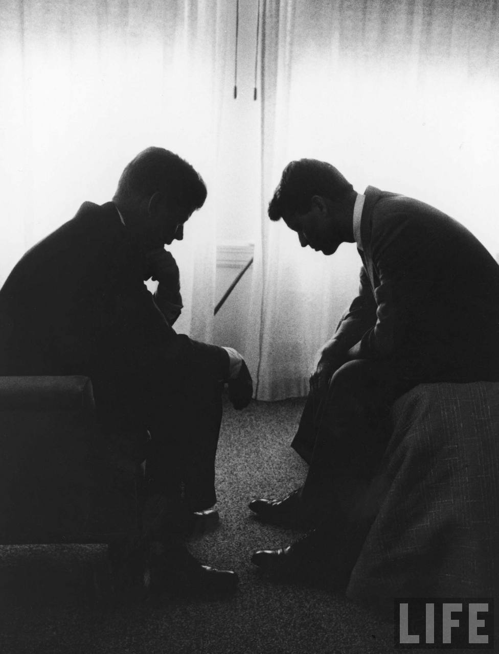 Jack and Bobby. Photo by Hank Walker, 1960