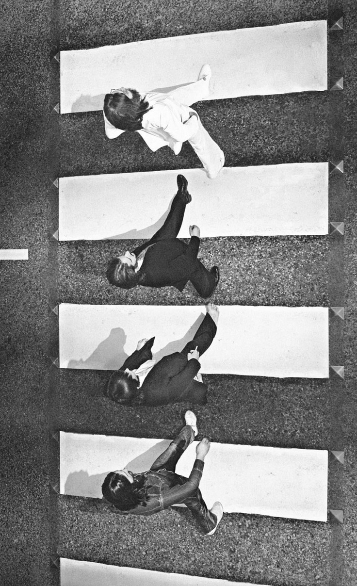 The Beatles' Abbey Road photo shoot from a different angle, 1969