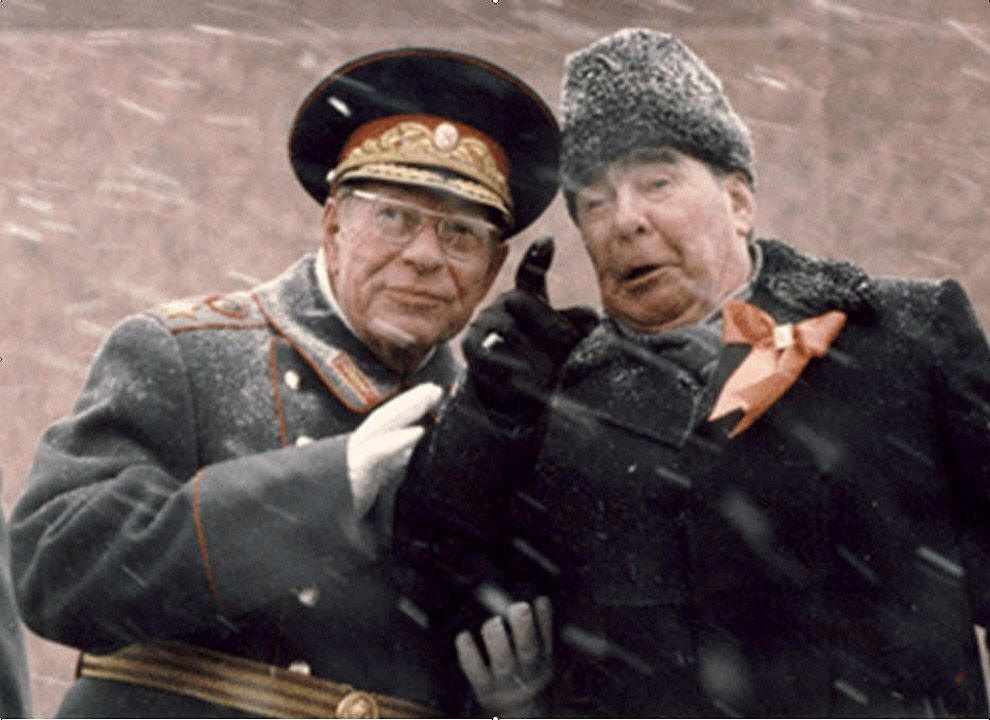 soviet-defense-minister-dmitry-ustinov-and-cpsu-general-secretary-leonid-brezhnev-at-the-lenin-mausoleum-tribune-1982