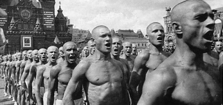 Спортсмены на Красной площади. 1935 г